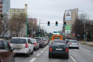 Reklama wielkoformatowa zlokalizowana przy ul. Hetmańskiej w Poznaniu.