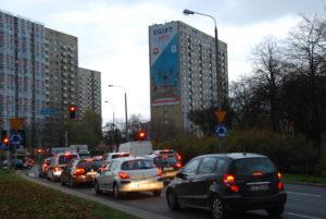 Reklama wielkoformatowa zlokalizowana w Poznaniu na os. Wichrowe Wzgórze.